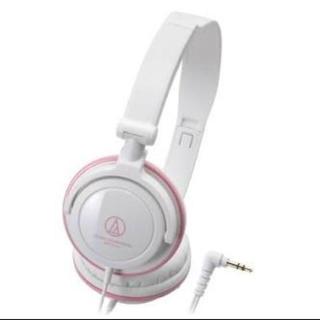 オーディオテクニカ(audio-technica)のオーディオテクニカ ヘッドフォン ピンク ATH-SJ11 WPK(ヘッドフォン/イヤフォン)
