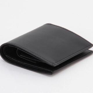 ムジルシリョウヒン(MUJI (無印良品))の【新品】MUJI イタリア産ヌメ革 二つ折り財布 (財布)