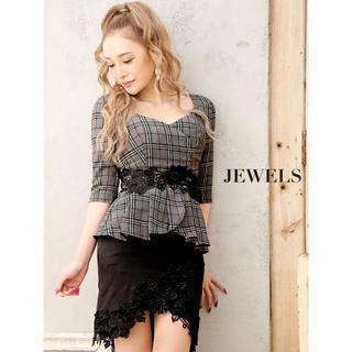 JEWELS - Jewels ペプラム ミニドレス (Lサイズ)