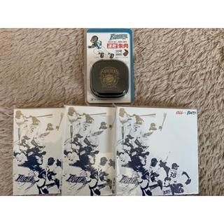 ホッカイドウニホンハムファイターズ(北海道日本ハムファイターズ)のファイターズ朱肉+メモ(印鑑/スタンプ/朱肉)