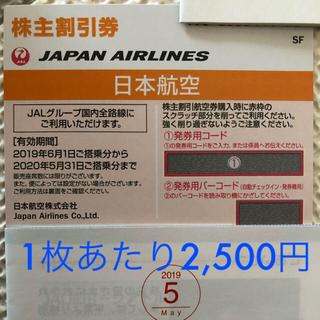 JAL(日本航空) - 【即日発送可】JAL 株主優待券 2枚