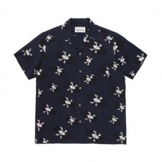 WACKO MARIA - ワコマリア   20s/s アロハシャツ ネイビー XL