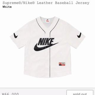 Supreme - 定価販売‼️Sup×Nike Leather Baseball Jersey