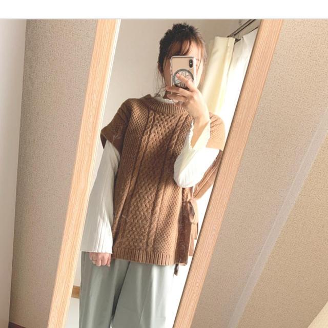 しまむら(シマムラ)の【値下げ】しまむら  ニットベスト  ブラウン  M メンズのトップス(ベスト)の商品写真