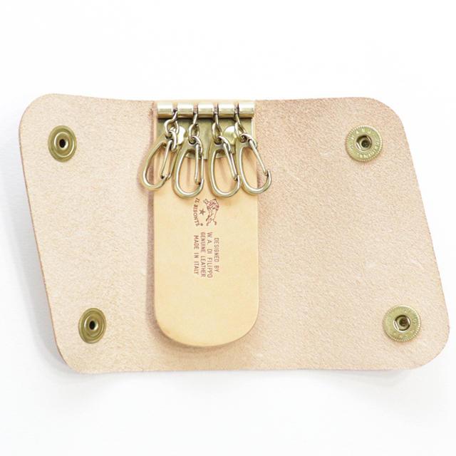IL BISONTE(イルビゾンテ)の新品 イルビゾンテ キーケース スマートキー ケース レザー キーリング ヌメ レディースのファッション小物(キーケース)の商品写真