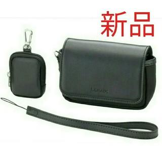 パナソニック(Panasonic)のLUMIX カメラケース バッテリーケース、ハンドストラップ付き ルミックス(ケース/バッグ)