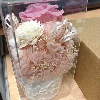 花の置物 ピンク 桃色 インテリア 造花 薔薇(置物)
