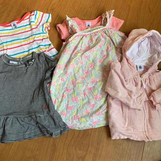 PETIT BATEAU - プチバトー 女の子子供服 80〜90 2歳3歳 春夏 5点セット