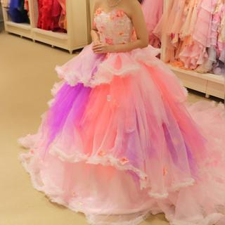 カラードレス ピンク  パープル ココメロディ(ウェディングドレス)