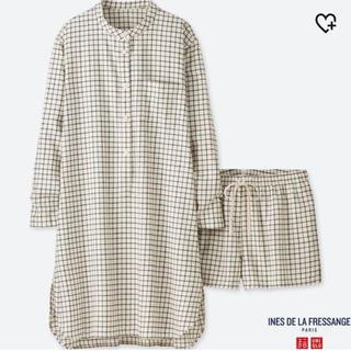 UNIQLO - ユニクロ イネス フランネルパジャマ パジャマ パンツ ショートパンツ ズボン
