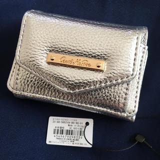 CECIL McBEE - 新品 セシルマクビー 三つ折り財布 ミニ財布 シルバー