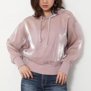 rienda - rienda sheer hoodie tops