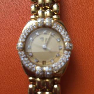 ショパール(Chopard)のショパール金無垢ダイヤベゼルレディース腕時計(腕時計)