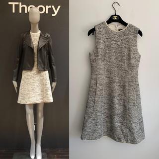 theory - 定価41040円 2018ss セオリー 春ツイード ワンピース 2