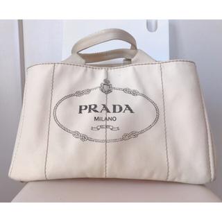 PRADA - PRADA カナパ ♡ ベージュ ホワイト 大 トート