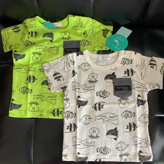 サンカンシオン(3can4on)の新品未使用 3can4on Tシャツ2枚セット 80 ベビー キッズ 保育園(Tシャツ)
