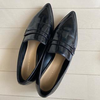 チャールズアンドキース(Charles and Keith)のチャールズアンドキース ブラックローファー(ローファー/革靴)