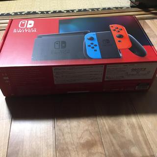 ニンテンドースイッチ(Nintendo Switch)のNintedo Switch 任天堂スイッチ ネオンブルー ニンテンドウ 店舗印(家庭用ゲーム機本体)