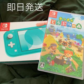 ニンテンドースイッチ(Nintendo Switch)の任天堂スイッチ ライト どうぶつの森 セット(家庭用ゲーム機本体)