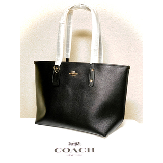 COACH - 【新品】人気商品 オールブラック COACH  トートバッグ  F58846