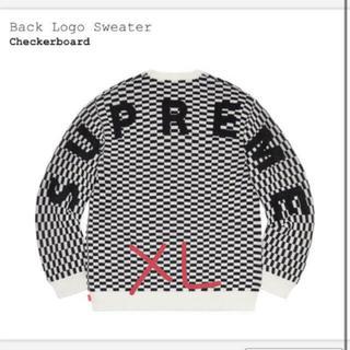 Supreme - XLサイズ Supreme Back Logo Sweater チェック柄