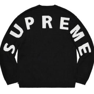 Supreme - Supreme Back Logo Sweater Black