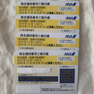 ANA(全日本空輸) - ANA全日空株主優待券 4枚セット