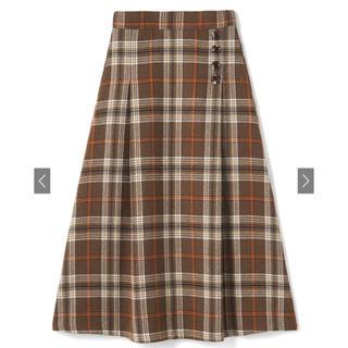 GRL - チェックフレアロングスカート