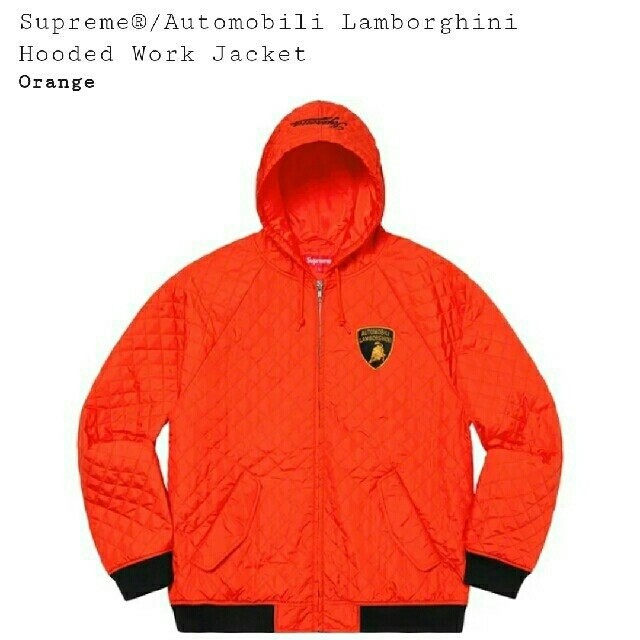 Supreme(シュプリーム)のAutomobili Lamborghini Hooded Jacket S メンズのジャケット/アウター(フライトジャケット)の商品写真