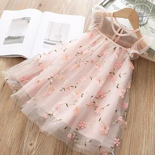 新品*子供用ワンピース*レース フリル 小花柄ワンピース ドレス*