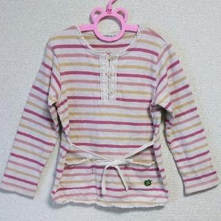 サンカンシオン(3can4on)の3can4on(サンカンシオン)*ボーダーTシャツ*120cm(Tシャツ/カットソー)