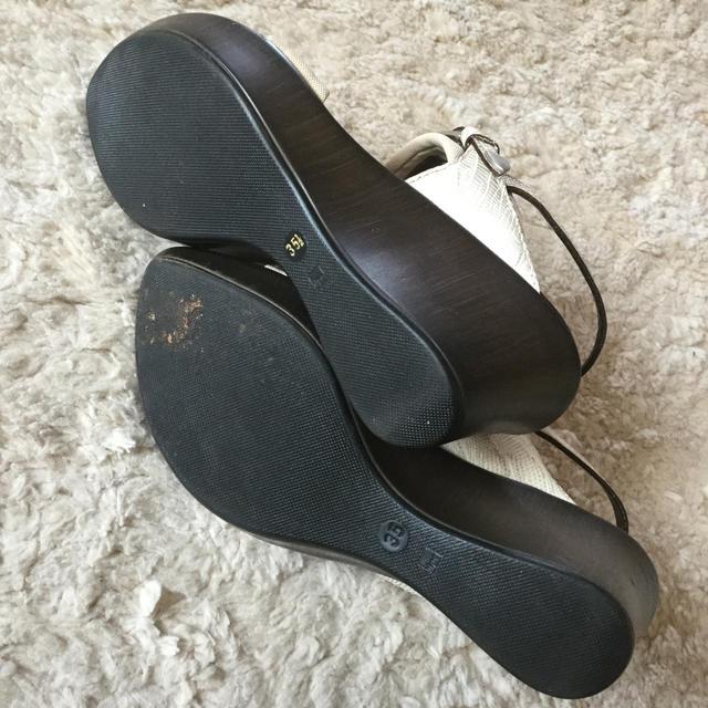 ESTNATION(エストネーション)のエストネーション ウェッジ ウッドサンダル レディースの靴/シューズ(サンダル)の商品写真