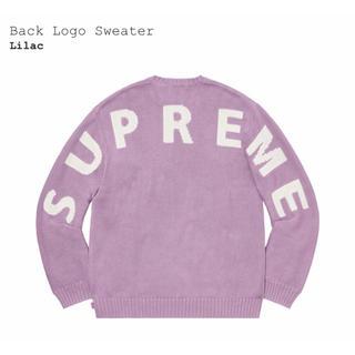 Supreme - 【L】Supreme Back Logo Sweater Lilac