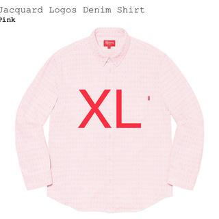 Supreme - Supreme Jacquard Logos Denim Shirt ピンクXL