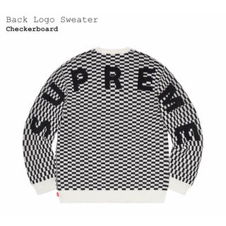 Supreme - 【L】Supreme Back Logo Sweater Checker