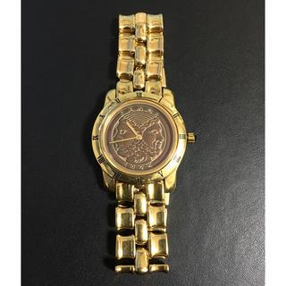 フェンディ(FENDI)の激レア FENDI ゴールド 金色 腕時計 アナログ 黒 文字盤 ブラック(腕時計(アナログ))