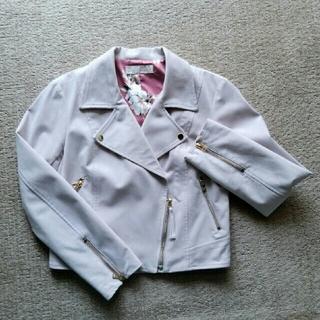 31 Sons de mode - ライダースジャケット スエード調 ピンク