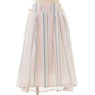 リズリサ(LIZ LISA)の【タグ付き新品】LIZLISA マルチストライプフィッシュテイルスカート ピンク(ロングスカート)