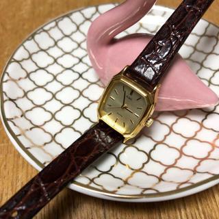 セイコー(SEIKO)の♡超美品🌸SEIKO シンプル ブラウンレザー レディース ウォッチ(腕時計)