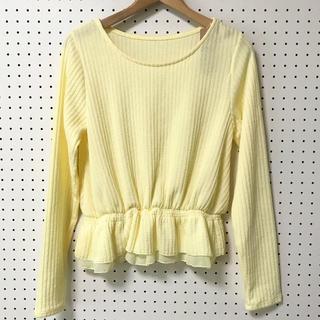 オゾック(OZOC)の【新品タグ付】OZOC 裾シフォンフリル リブニット(ニット/セーター)