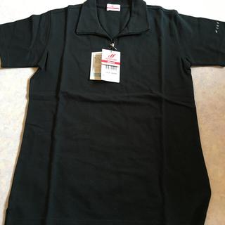 ミズノ(MIZUNO)の*ミズノ Mizuno ジップアップ半袖ポロシャツ ブラック M レディース*(ポロシャツ)