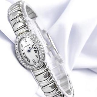 Cartier - 【保証書付】カルティエ ミニベニュワール K18 WG ダイヤ レディース 時計