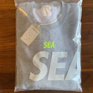 Supreme - 希少 初期 wind and sea crew neck sweat grey