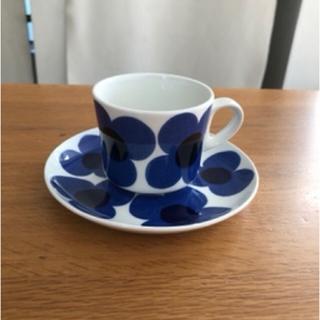 アラビア(ARABIA)の【超貴重】アラビア アウリンコ コーヒー カップ&ソーサー  ブルー (食器)