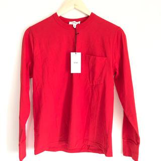 ハイク(HYKE)の新品 HYKE カットソー 1 タグ付き レッド ロンT 赤(Tシャツ(長袖/七分))