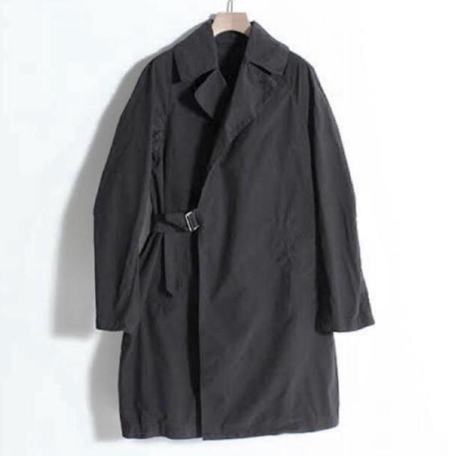 COMOLI(コモリ)の16ss comoli サイズ2 タイプライタータイロッケンコート グレー  メンズのジャケット/アウター(ステンカラーコート)の商品写真