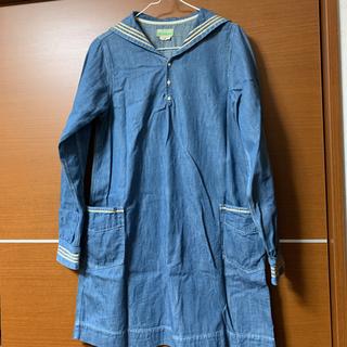ゴートゥーハリウッド(GO TO HOLLYWOOD)の大人も着用OK gotohollywoodセーラーカラーダンガリーワンピース01(ワンピース)
