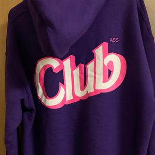 アンチ(ANTI)のanti social social club パーカー フーディ 紫(パーカー)