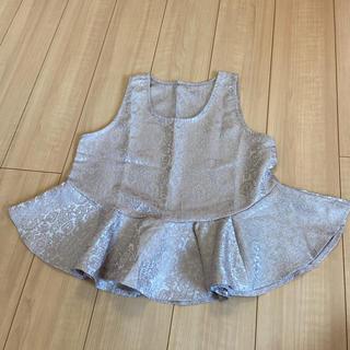 アナップ(ANAP)のペプラムトップス(カットソー(半袖/袖なし))