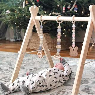赤ちゃん おもちゃ 木 メリー